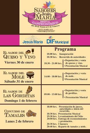 Realizarán Festival Gastronómico para presumir los sabores de @Jesus_Maria_