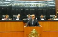 Presenta alcalde @TMartinDelCampo a senadores, Mando Unico de Aguascalientes