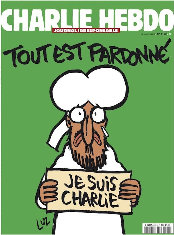 """Charlie Hebdo saca una portada con tiraje de 3 millones en la que Mahoma lleva un cartel: """"Yo soy Charlie"""""""