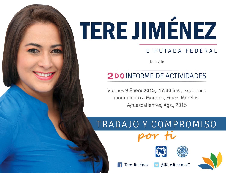 Anuncia informe @TereJimenezE