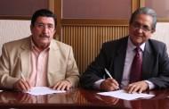 Firma Convenio @SaludAgs con @CECyTEA