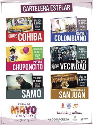 Anuncian programa de la Feria 2015 en @MpioCalvillo
