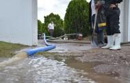 Lluvia causa afectaciones a la Pensión Municipal de Jesús María