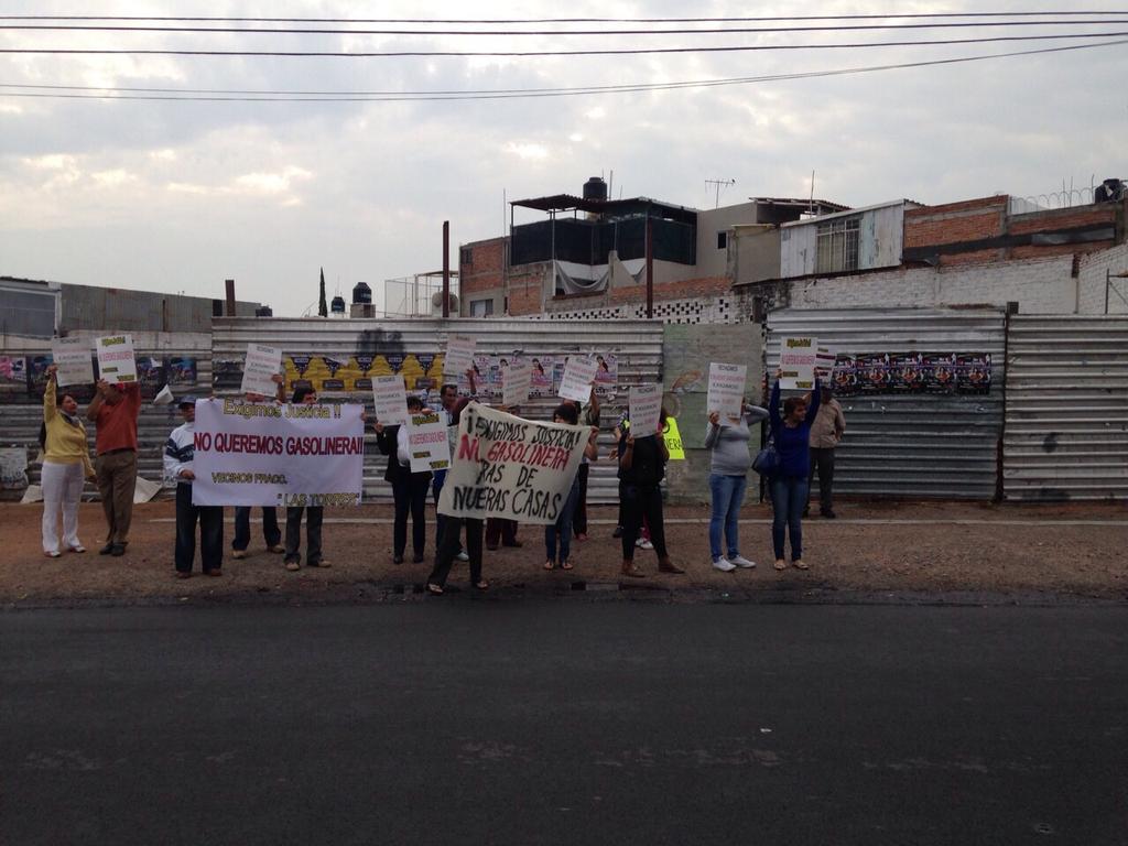 Nueva manifestación en contra de construcción de gasolinera