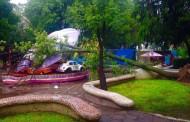 Deja lluvia apagones, árboles caídos, deslaves y vehículos varados