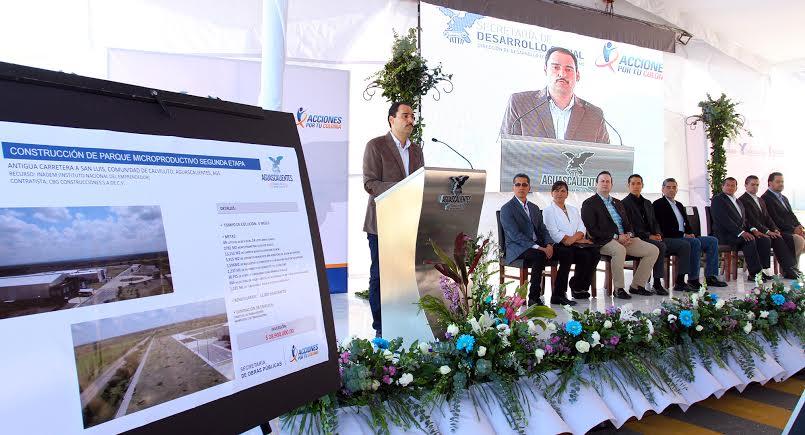 Entrega @TMartinDelCampo primer parque industrial para Pymes