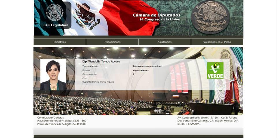 Cuela el PVEM a la LXIII legislatura a una diputada por Aguascalientes que no es de Aguscalientes