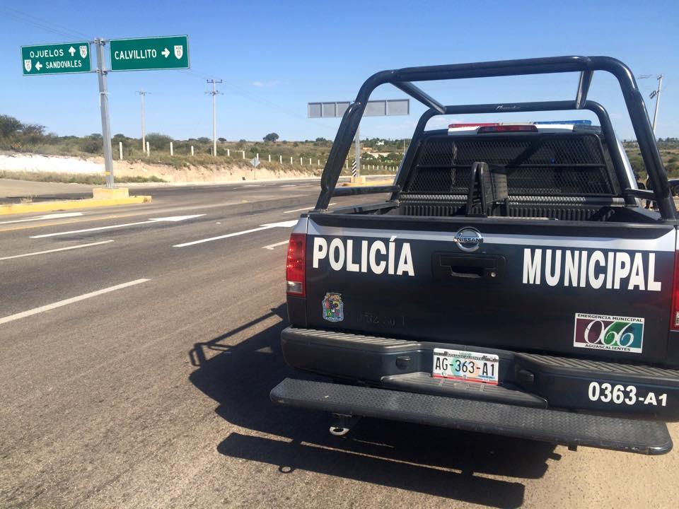 Balacera entre pistoleros y policías en Calvillito