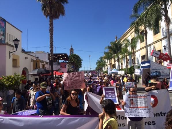 Marcha en Aguascalientes contra las 'violencias machistas'