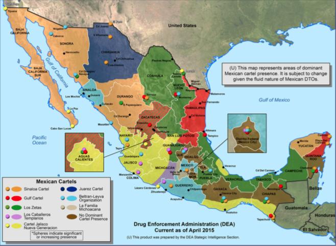 Disputan control de Aguascalientes cuatro cárteles: DEA