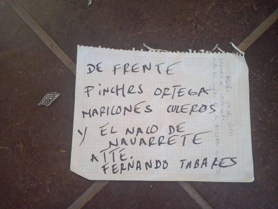 Vandalizan edificio del Prd, arremeten contra Ortega y Navarrete