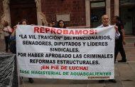 Replica la CNTE movilización en Aguascalientes