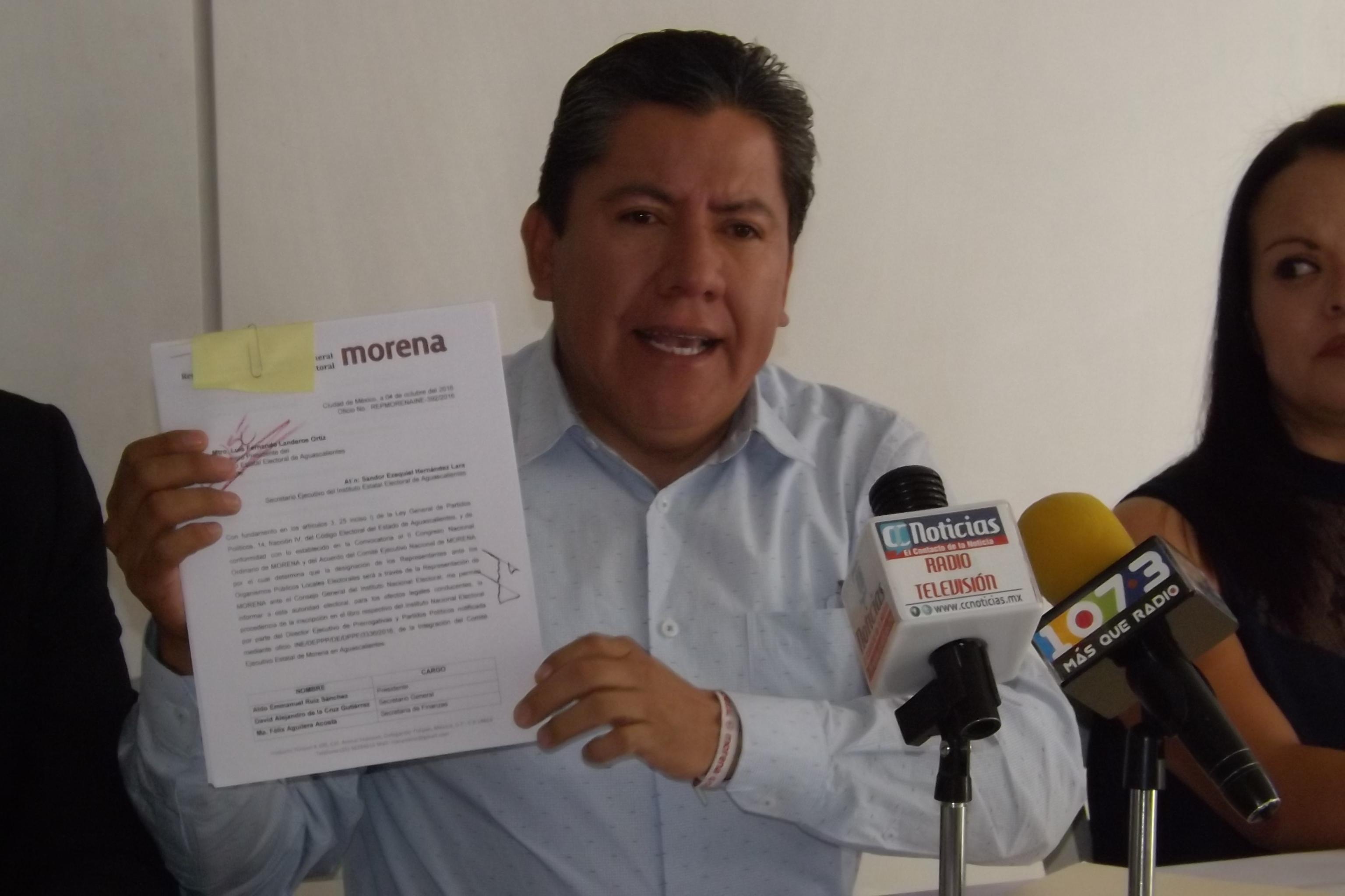 Espaldarazo de MORENA para Aldo Ruiz