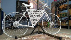 Homenaje a un ciclista que perdió la vida