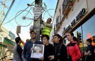 """Colocan """"bicicleta blanca"""" como homenaje a ciclista atropellado"""