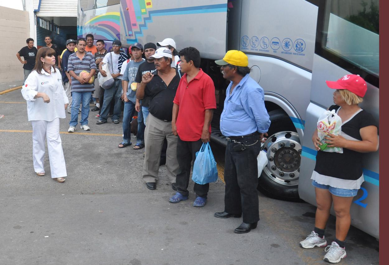 Atiende INM repatriados por TRUMP