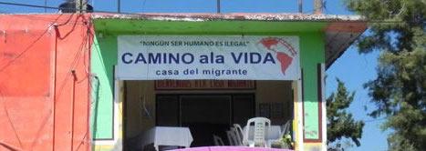 En la quiebra la casa del migrante for Mural de la casa del migrante
