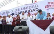 Es un honor estar con Obrador, gritan priistas y panalistas