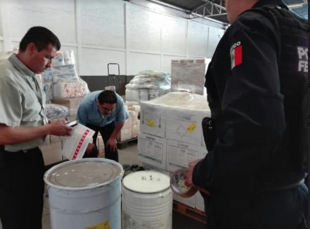 Decomisa ISSEA y Policía Federal precursores químicos
