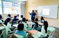 Imparten socorristas orientación en escuelas de Jesús María