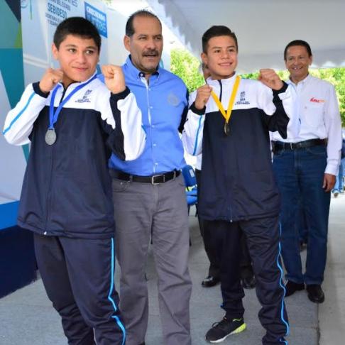 Reconocen a boxeadores medallistas del Festival Olímpico Mexicano 2017