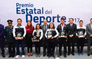 Entregan Premio Estatal del Deporte 2017