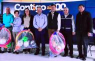 Premian a ganadores del cuadrangular de fútbol y tochito
