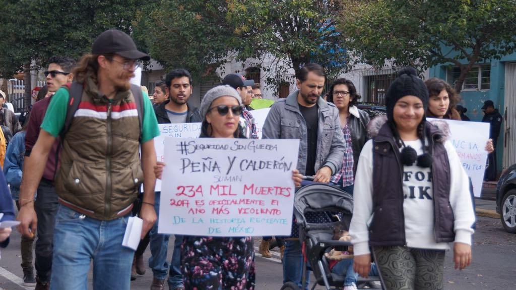 Marchan contra la Ley de Seguridad Interior en Aguascalientes