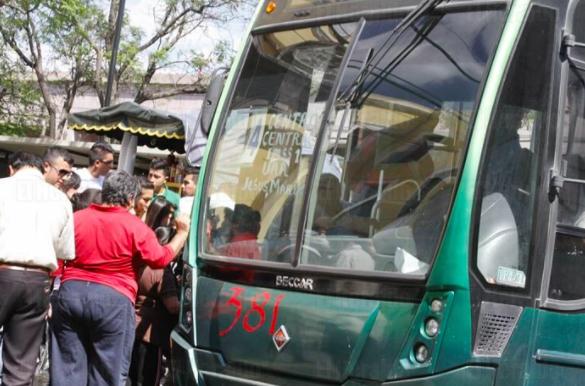 Piden intervención de policía por asaltos en Transporte Público