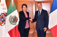 Elogia embajadora de Francia la seguridad y mano de obra de Aguascalientes