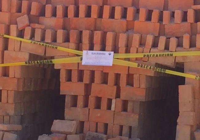 Clausura PROESPA 9 ladrilleras en Rincón de Romos
