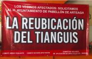 Demandan reubicación de Tianguis tradicional en Pabellón
