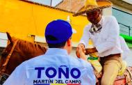 Compromete Toño Martín apoyo al campo