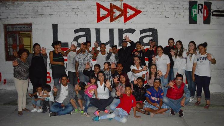 Denuncia Laura Salinas inseguridad y desempleo en el distrito V
