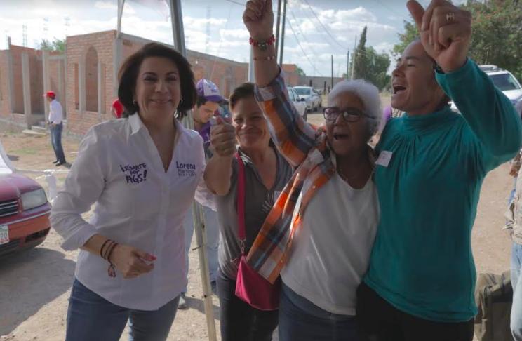 Piden apoyo a Lorena Martínez por inseguridad