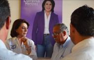 Signa compromisos Lorena Martínez con locatarios del Agropecuario
