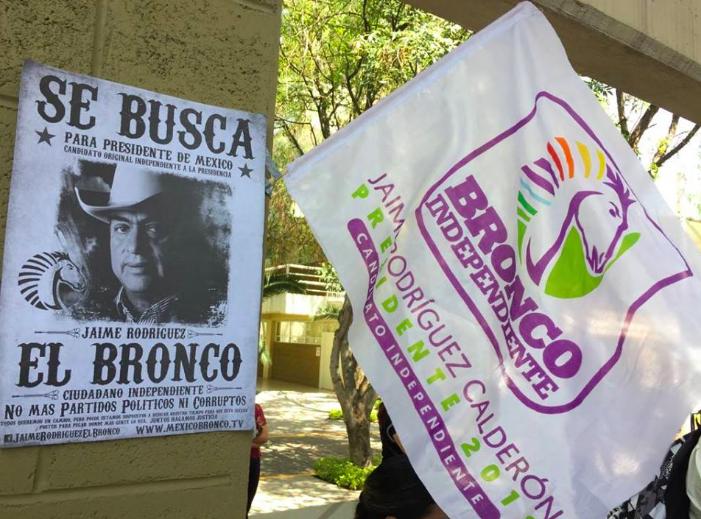 """Se fusila """"El Bronco"""" bandera de campaña del Partido Verde"""