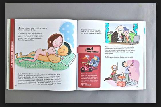 Critica el Frente por la Familia sexualidad en libros de texto
