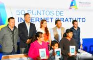 Anuncia Tere Jiménez internet gratuito en 50 puntos públicos