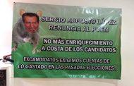 Ex candidatos del PVEM piden la destitución de su dirigente