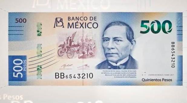 «Al tiro» con los nuevos billetes de 500 pesos