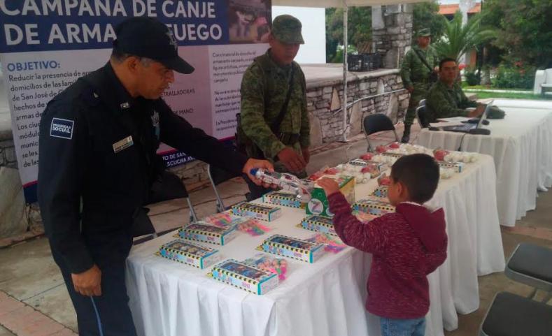 76 armas y 5 mil cartuchos se canjearon en Aguascalientes