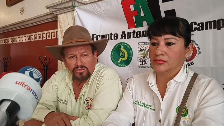 Organizaciones campesinas se manifestarán en busca de apoyos