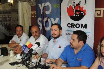 Amenaza CROM con no participar en desfile obrero
