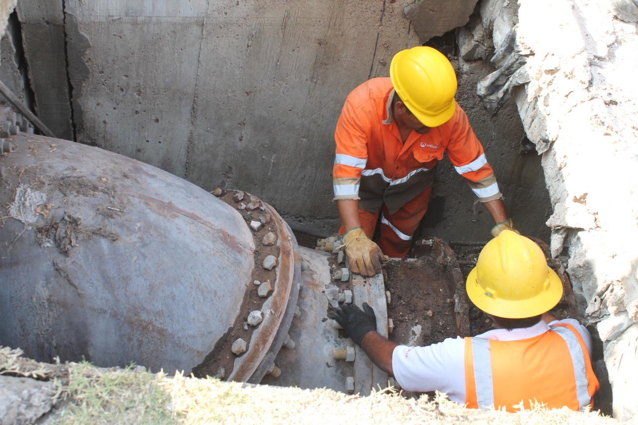 Repara VEOLIA fuga provocada por temblor