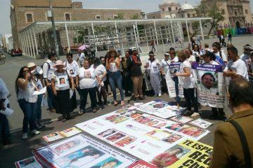 Regresan protestas por desaparecidos en Aguascalientes