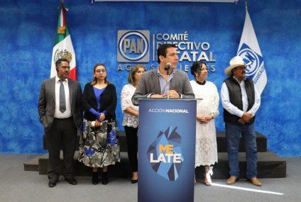 Aguascalientes está olvidado por AMLO en Inseguridad: Báez