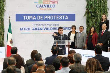 Toma protesta Adán Valdivia como alcalde reelecto en Calvillo