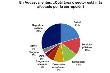 40% de aguascalentenses consideran que la seguridad pública es la más afectada por corrupción