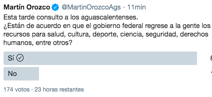 Lanza Martín Orozco sondeo como respuesta a López Obrador